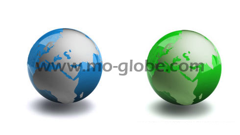Acrylic globe variants with different surfaces and colors