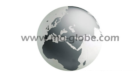 Giant acrylic globe up to 1.5 m diameter