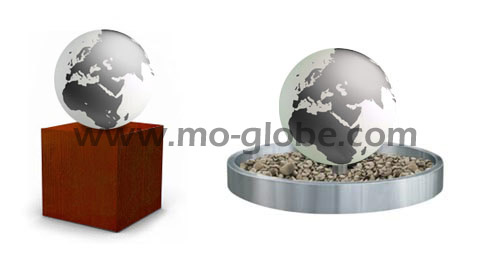 Pedestals and base plates for acrylic globes