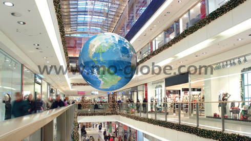 Example for a giant geo globe in a shopping mall