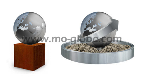 Metal globe continents with paintwork or sandblasted