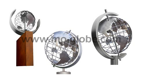 Pedestals & base plates for a wire metal globe