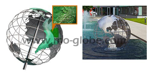 Wire metal globe variants with special surfaces