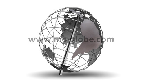 Wire metal globe (open framed) up to 15 m diameter