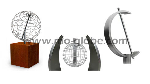 Pedestals for a open framed / wire sphere