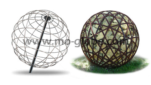Wire metal sphere variants