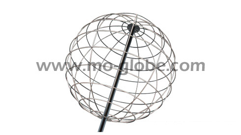 Wire metal sphere in stainless steel or aluminium