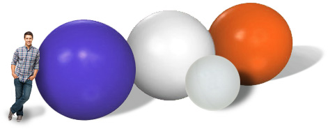Large Plastic Spheres In Different Sizes And Colours