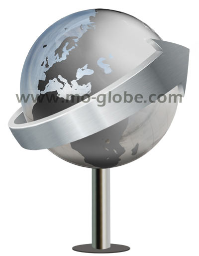 stainless steel globe with application